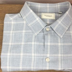 7 DIAMONDS Check Shirt Light Blue White S